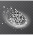 snowflake with glittering texture vector image