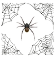 Spiderweb Big spider web Scary spider of web vector image vector image