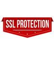 ssl protection banner design vector image