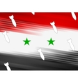 Syrian flag and air warheads vector image