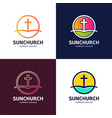 template logo for churches and christian vector image