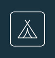 tent outline symbol premium quality isolated vector image vector image