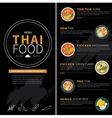 thai food menu vector image