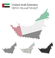 United Arab Emirated flag and maps vector image vector image