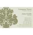 Victorian Damask Business Card vector image vector image