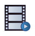 video player reel and button symbol vector image vector image