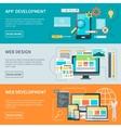 Website Development Banners vector image vector image