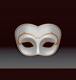 white colombina mask 3d realistic icon vector image