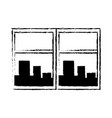 window cityscape window framed urban buildings vector image vector image