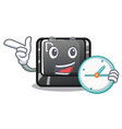 with clock button d isolated in cartoon vector image vector image