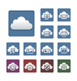 Cloud computing icon set metallic theme vector | Price: 1 Credit (USD $1)