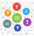 7 prize icons vector image vector image
