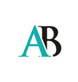 ab initials letter logo vector image vector image
