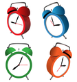 alarm clocks isolated on white vector image