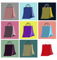 assembly flat icons paper bag vector image