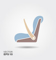 baby car seat icon vector image vector image