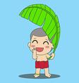 Banana Leaf Boy vector image