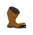 Broken shoes Monster Old boots with teeth Hole in vector image vector image