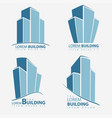 building symbol set architecture business vector image vector image