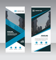 Business Roll Up Banner flat design template set vector image vector image
