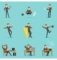 Businessman Work Process Series Of Business