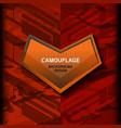 camouflage dark orange background vector image vector image