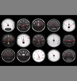 car dashboard gauges collection speed fuel vector image vector image