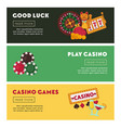 casino poker online game web banners vector image