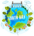 clean energy earth day poster vector image vector image