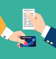 customer paper receipt vector image vector image