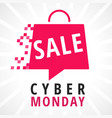 cyber monday sale bag vector image vector image