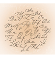Decorative cursive letters with swirls vector image vector image