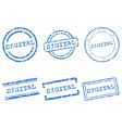 Digital stamp vector image vector image