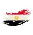 egyptian flag grunge brush background vector image vector image