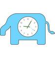 elephant clock vector image vector image