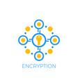 encryption and data protection icon vector image vector image