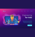 engineering for kids concept landing page vector image vector image