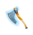 fantasy game battle axe icon vector image vector image