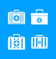 first aid kit icon blue set vector image vector image