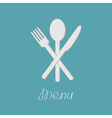 Fork spoon and knife Menu card Flat design style vector image vector image