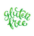 Gluten free conceptual handwritten phrase
