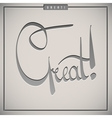 Great greetings hand lettering set vector image