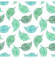 green leaf pattern art at white background mehendi vector image