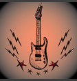 guitar lightning stars hand drawing vector image vector image