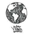 hand drawn global Isolated vector image