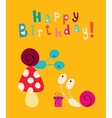Happy Birthday card 6 vector image vector image