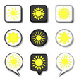 icon logo for set symbols hot yellow vector image