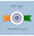 India Independence Day holiday Badge vector image vector image
