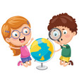kids having geography lesson vector image vector image