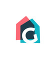letter g house home overlapping color logo icon vector image vector image
